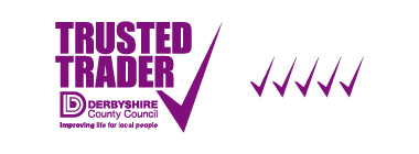 Stairlift FAQs page Derbyshire Trusted Trader profile link logo