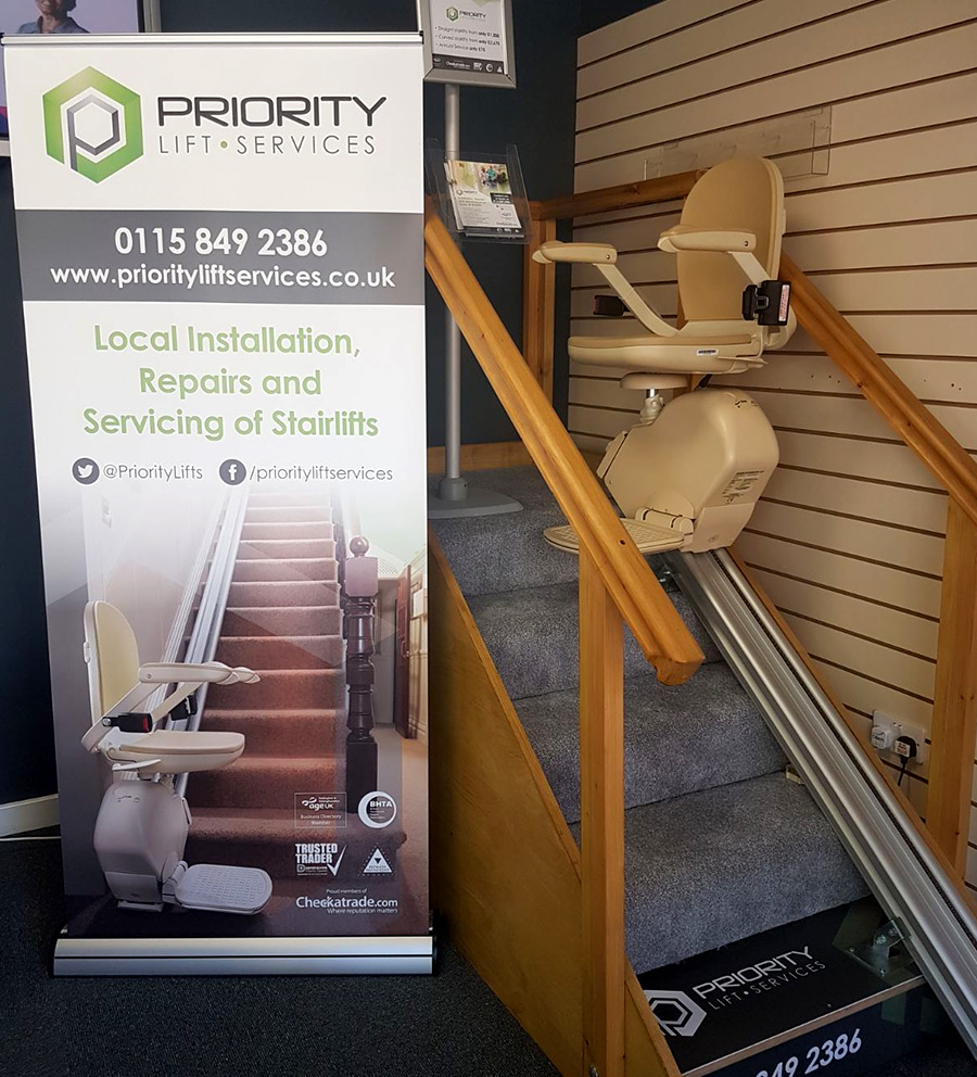 Priority Stairlifts Nottingham at Advantage Mobility, meadows Nottingham