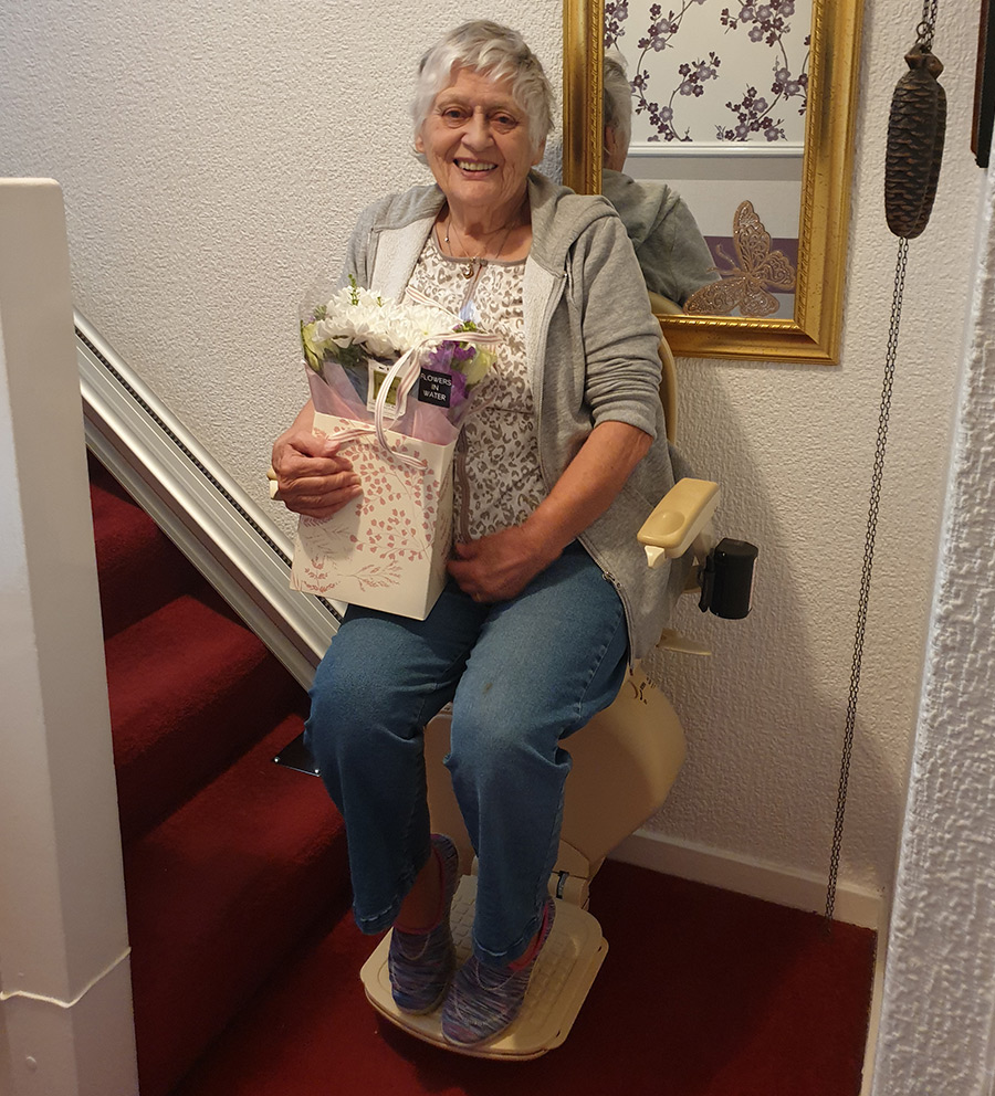 Priority Stairlifts Nottingham happy customer