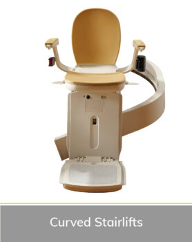 Priority Stairlifts Nottingham product image of curved stairlift